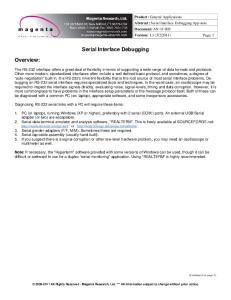 Serial Interface Debugging