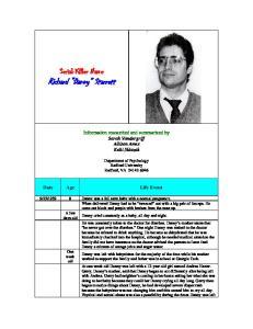 Serial Killer Name Richard Danny Starrett
