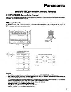 Serial (RS-232C) Connector Command Reference