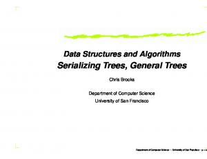 Serializing Trees, General Trees