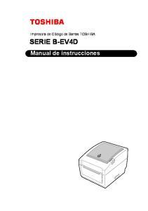 SERIE B-EV4D Manual de instrucciones