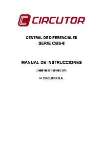 SERIE CBS-8 MANUAL DE INSTRUCCIONES