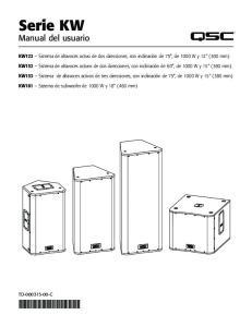 Serie KW Manual del usuario