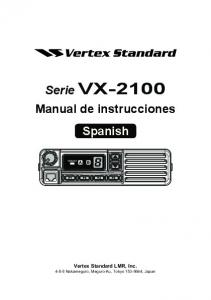 Serie VX-2100 Manual de instrucciones Spanish