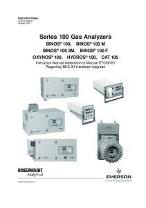 Series 100 Gas Analyzers