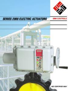 SERIES 2000 ELECTRIC ACTUATORS