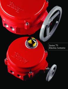 Series 70 Electric Actuator