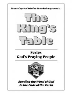 Series God s Praying People