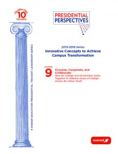 Series Innovative Concepts to Achieve Campus Transformation
