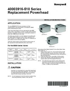 Series Replacement Powerhead