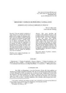 SERMONES Y ESPEJOS DE PRÍNCIPES CASTELLANOS 1