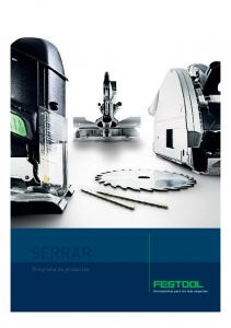 SERRAR. Programa de productos
