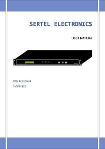 SERTEL ELECTRONICS USER MANUAL GPS RECEIVER T-GPS-300
