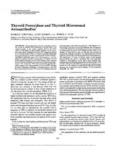 SERUM from patients with autoimmune thyroid disease