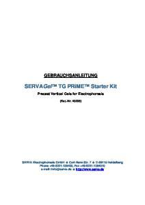 SERVAGel TG PRiME Starter Kit