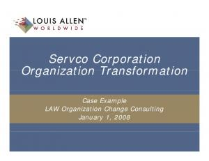 Servco Corporation. Case Example. January 1, 2008