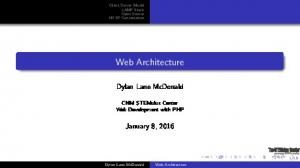 Server Model xamp Stack Open Source HTTP Conversation. Web Architecture. Dylan Lane McDonald. CNM STEMulus Center Web Development with PHP