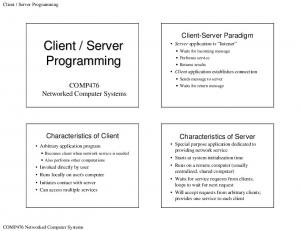 Server Programming