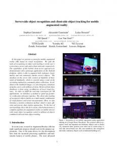 Server-side object recognition and client-side object tracking for mobile augmented reality