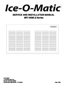 SERVICE AND INSTALLATION MANUAL MFI 2406LS Series