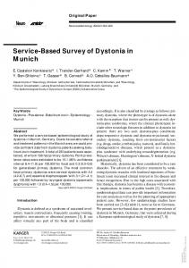 Service-Based Survey of Dystonia in Munich