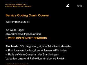 Service Coding Crash Course