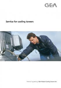 Service for cooling towers