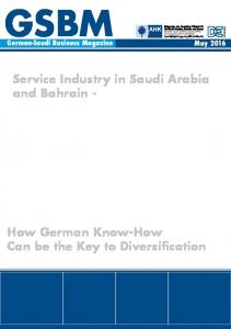 Service Industry in Saudi Arabia and Bahrain -