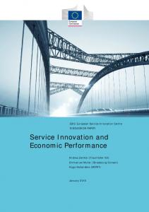 Service Innovation and Economic Performance