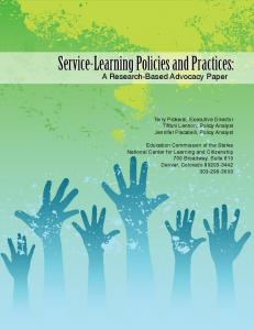 Service-Learning Policies and Practices: