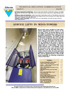 SERVICE LIFTS IN WIND-TOWERS