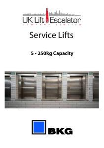 Service Lifts kg Capacity