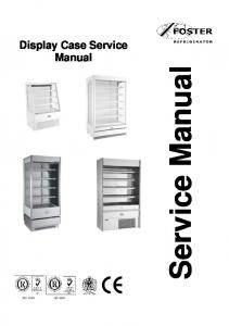 Service Manual. Display Case Service Manual ISO ISO 9001