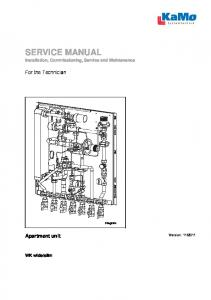 SERVICE MANUAL Installation, Commissioning, Service and Maintenance