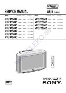 SERVICE MANUAL KV-32FS60A KV-32FS60B KV-32FS60D KV-32FS60E KV-29FS60A KV-29FS60B KV-29FS60D KV-29FS60E KV-29FS60K KV-29FS60R KV-29FS60U