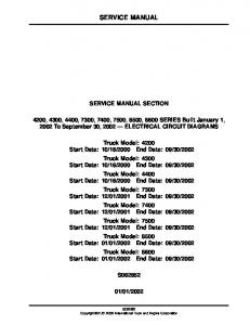 SERVICE MANUAL SERVICE MANUAL SECTION