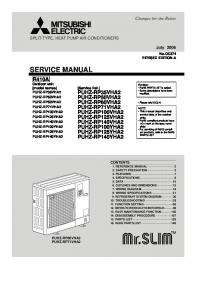 SERVICE MANUAL SPLIT-TYPE, HEAT PUMP AIR CONDITIONERS. July No.OC374 REVISED EDITION-A. [Service Ref.]