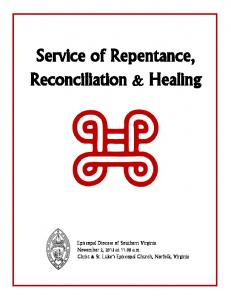 Service of Repentance, Reconciliation & Healing