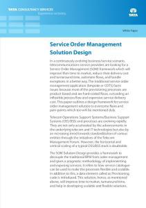 Service Order Management Solution Design