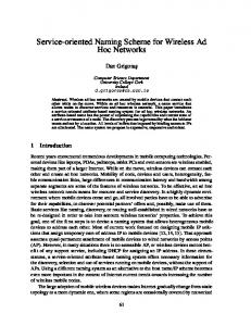 Service-oriented Naming Scheme for Wireless Ad Hoc Networks