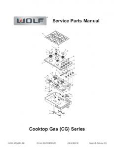 Service Parts Manual Cooktop Gas (CG) Series