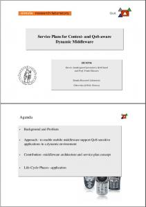 Service Plans for Context- and QoS-aware Dynamic Middleware