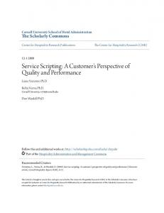 Service Scripting: A Customer s Perspective of Quality and Performance