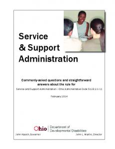 Service & Support Administration