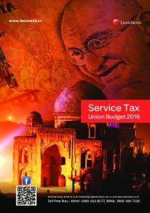 Service Tax. Union Budget