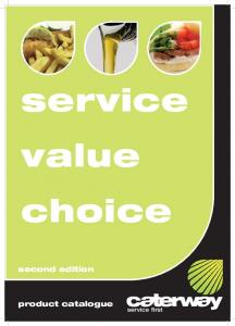service value choice second edition product catalogue service first