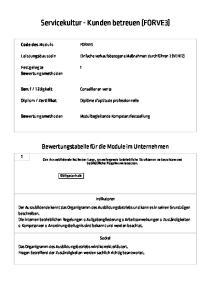 Servicekultur - Kunden betreuen (FORVE3)