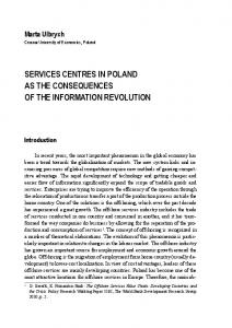 SERVICES CENTRES IN POLAND AS THE CONSEQUENCES OF THE INFORMATION REVOLUTION