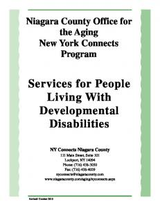 Services for People Living With Developmental Disabilities