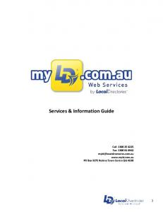 Services & Information Guide